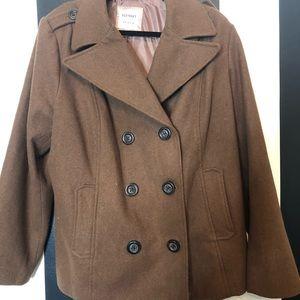 Brown Pea Coat XXL